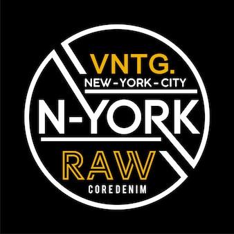 Modello di etichetta di new york