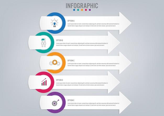 Modello di etichette di affari infographic