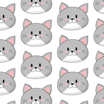 Modello di faccia di gatto bambino carino