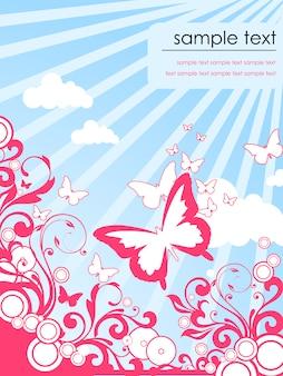 Modello di farfalle brochure