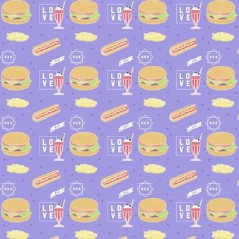 Modello di fast food: design moderno e alla moda.