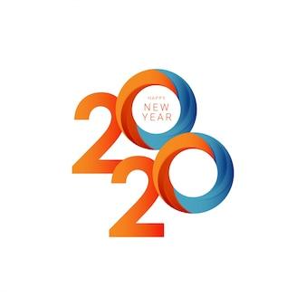 Modello di felice anno nuovo 2020