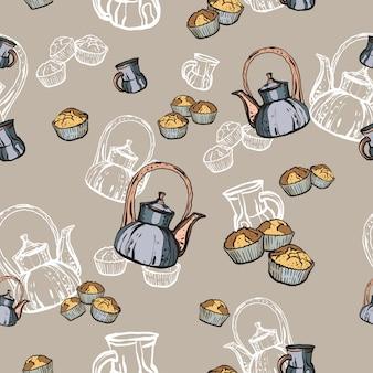 Modello di festa del tè