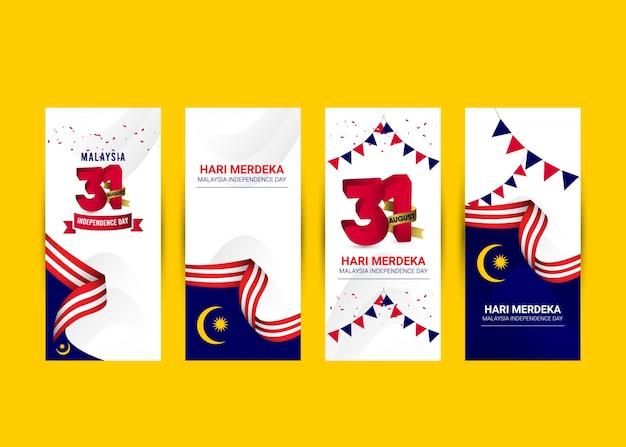 Modello di festa dell'indipendenza della malesia. design per banner; biglietti di auguri o stampa.