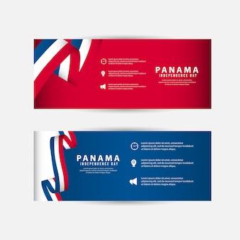Modello di festa dell'indipendenza di panama.