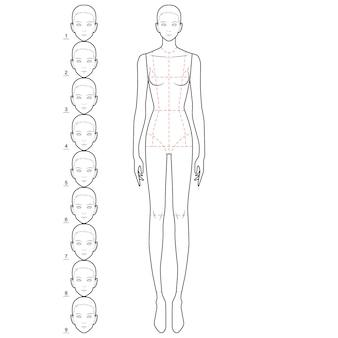 Modello di figura del corpo di moda