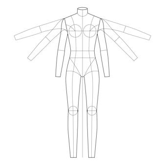 Modello di figura di moda