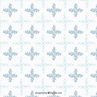 Modello di fiocchi di neve e dettagli floreali