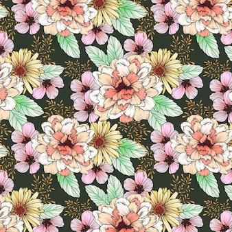 Modello di fiore di petali ricci