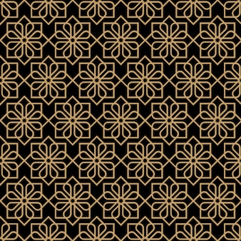 Modello di fiore senza cuciture scuro astratto nello stile orientale