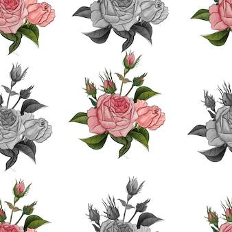 Modello di fiore senza soluzione di continuità