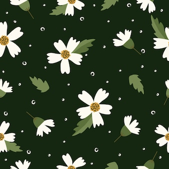 Modello di fiori carino senza soluzione di continuità