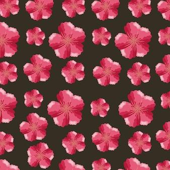 Modello di fiori tropicali