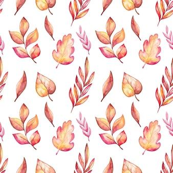 Modello di foglie autunnali dell'acquerello