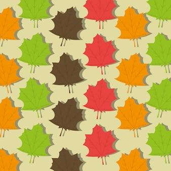 Modello di foglie di ecologia