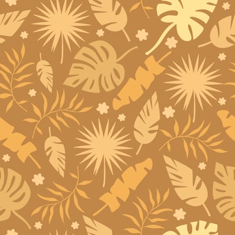 Modello di foglie di palma d'oro
