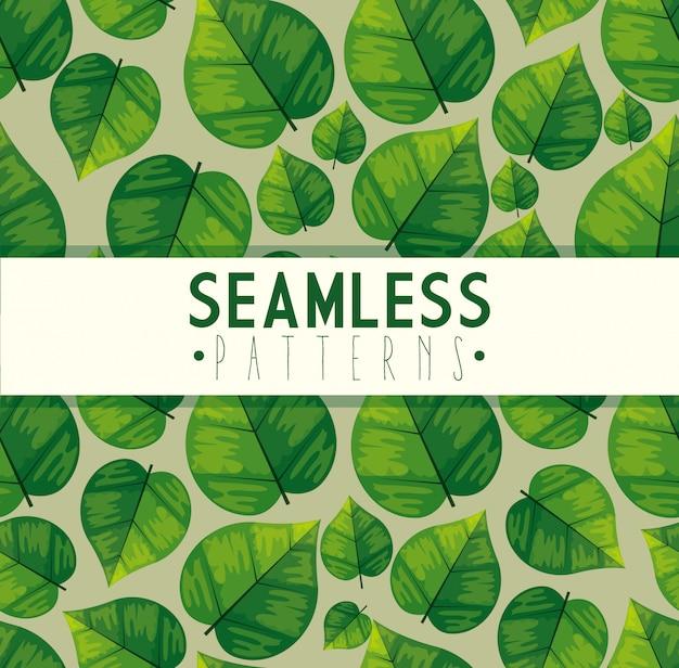 Modello di foglie senza soluzione di continuità