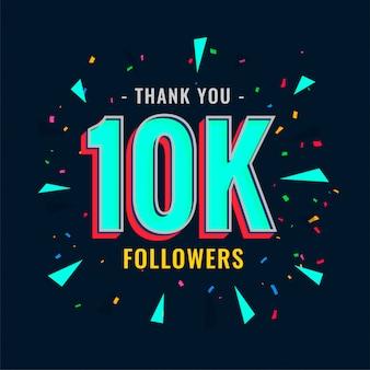 Modello di follower e abbonati social 10k
