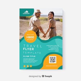 Modello di foto di viaggio con i viaggiatori