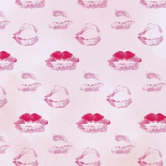 Modello di francobolli, modello di amore con le labbra. san valentino sfondo