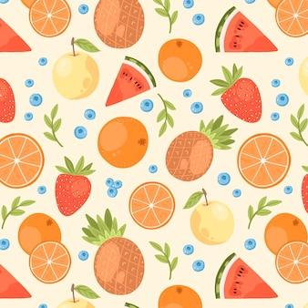 Modello di frutti colorati