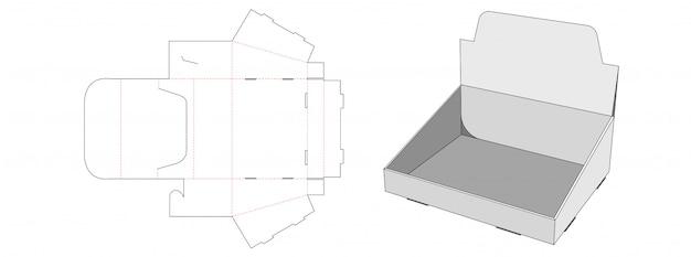 Modello di fustellatura del ripiano di esposizione