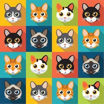 Modello di gatti carino
