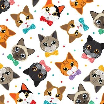 Modello di gatti e amici