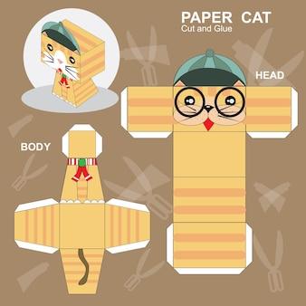 Modello di gatto di carta