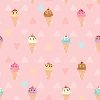 Modello di gelato rosa