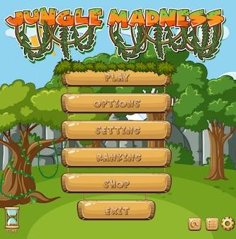 Modello di gioco con alberi nella foresta