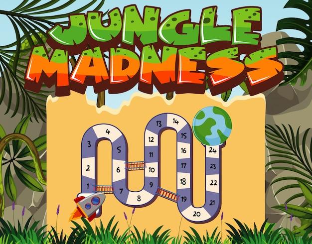 Modello di gioco con alberi nella giungla