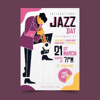 Modello di giornata jazz internazionale