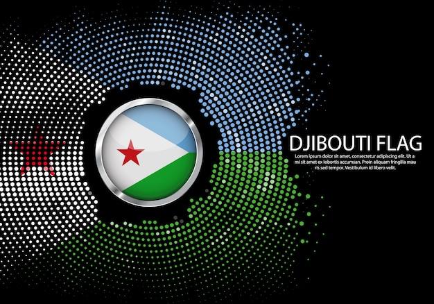 Modello di gradiente di mezzitoni sfondo della bandiera di gibuti.