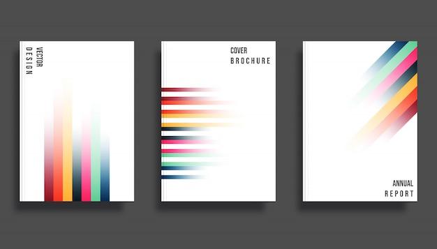 Modello di gradiente linee colorate di sfondo