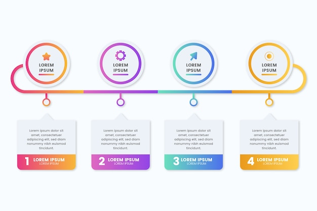 Modello di gradiente per infografica