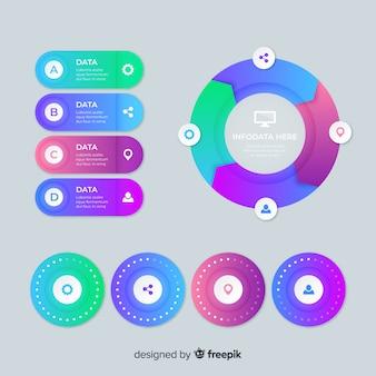 Modello di grafici infografici informativi