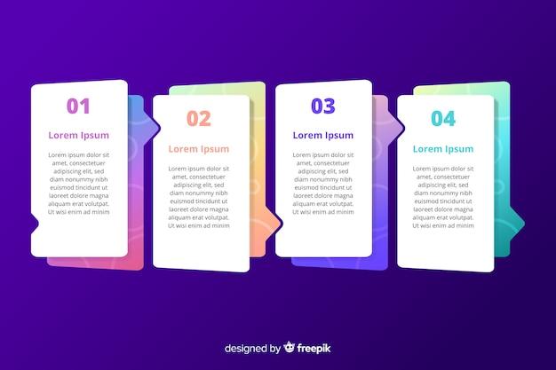 Modello di grafico di passi marketing infografica