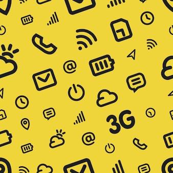 Modello di icona interfaccia mobile