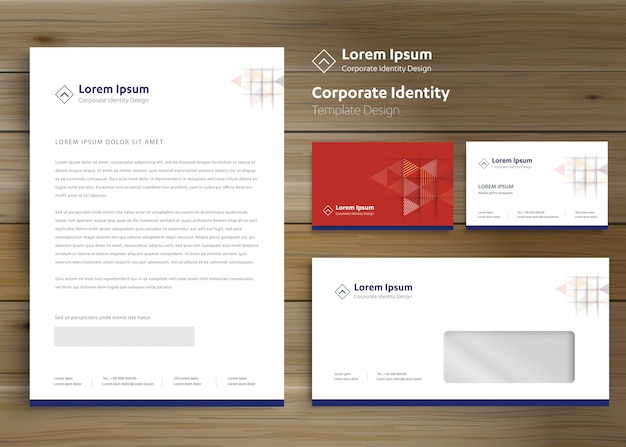 Modello di identità aziendale aziendale di cancelleria classica