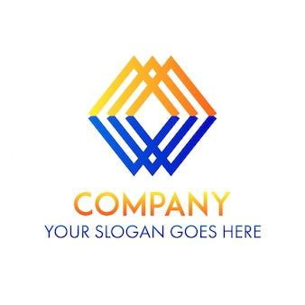 Modello di identità aziendale logo quadrato identità aziendale