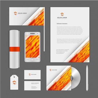 Modello di identità corporativa astratta di logo