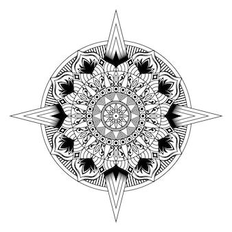 Modello di illustrazione vettoriale mandala
