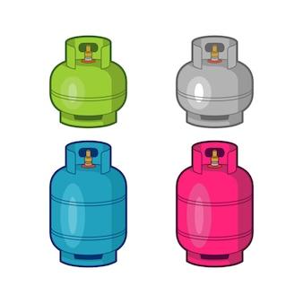 Modello di illustrazioni per bombole di gas