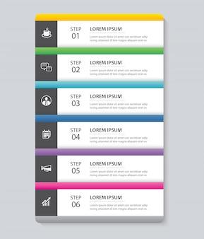 Modello di indice di carta di scheda di infographics di dati.