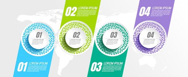Modello di infografic con 4 passaggi