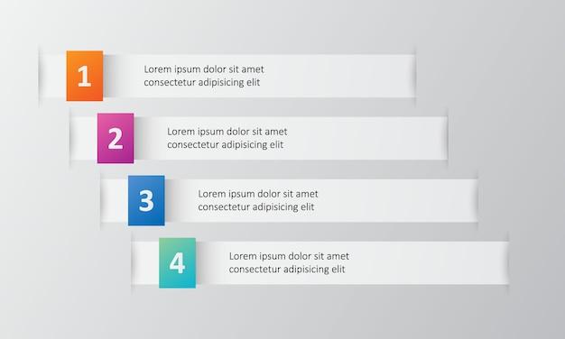 Modello di infografica 4 opzioni