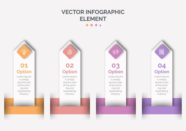 Modello di infografica con icona e numero
