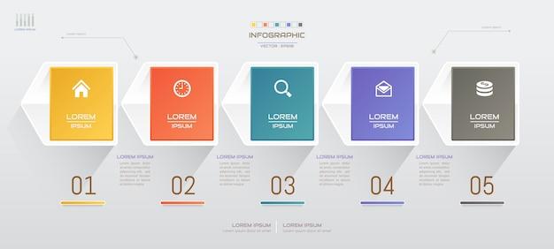 Modello di infografica con icone