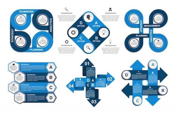 Modello di infografica con opzione numeri per presentazioni aziendali.